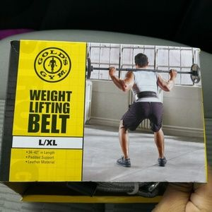 Golds Gym Leather Belt Back Support Weight Lifting